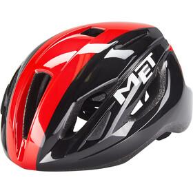 MET Strale Casco, negro/rojo